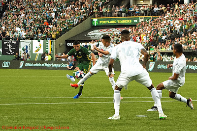 Paredes tallies the 1st goal of the new Providence Park