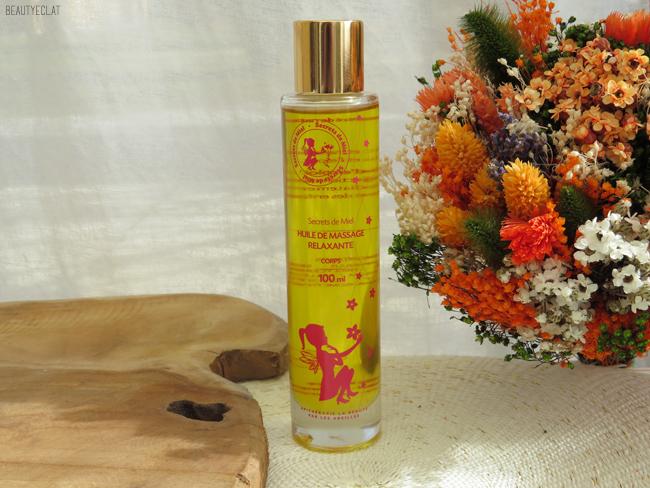 avis secrets de miel huile de massage relaxante