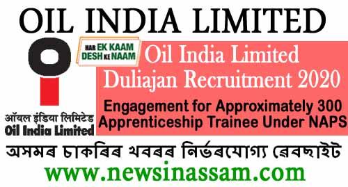 Oil Apprenticeship Recruitment 2020