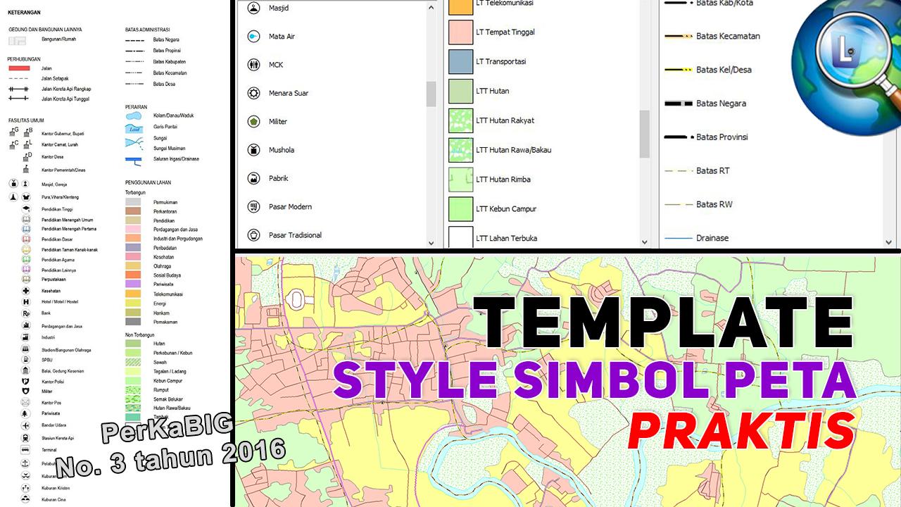Style Simbol Peta Praktis sesuai Teknis Penyajian Peta