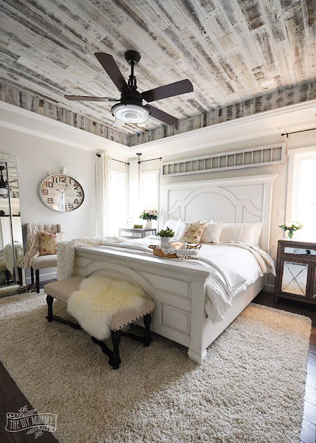 French Country White Washed Ceiling
