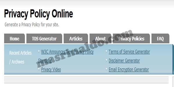 tutorial Membuat halaman Disclaimer,Privacy Policy dan Term of service di google