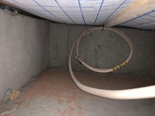 ガスコンロからIHコンロへの場合(ガス配管を床下に仕込む)