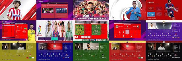 New Menu ML Liga Santander For PES 2020 by xcdf86