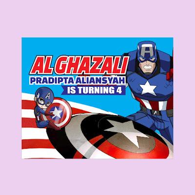 Banner Ultah Tema Captain America
