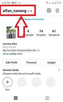 Cara mengirim Link Instagram ke telegram