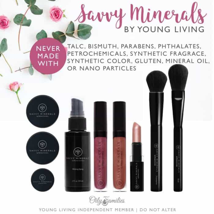 Young Living Savvy Mineral Makeup Line - makeovers