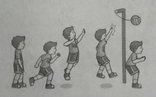 Variasi Gerak Berlari dan Melompat dengan Kombinasi Memukul Bola pada Smes Bola Voli