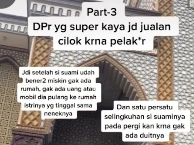 Kisah Nyata, Anggota DPR Hobi 'Jajan', Perusahaan Bangkrut Usai Pergi ke Mekkah Hingga Akhirnya Jualan Cilok