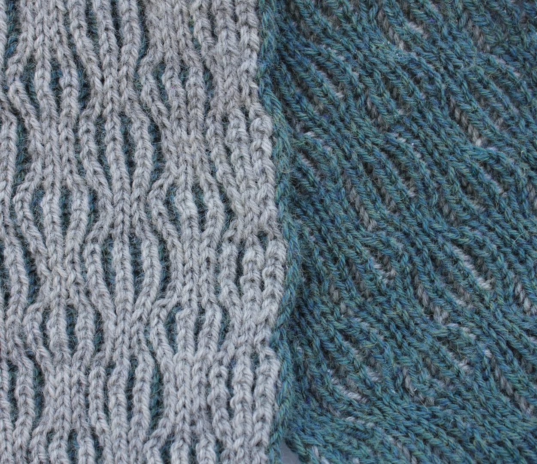 Hilde Haakt Sjaal In Patentsteek Met 2 Kleuren Breien