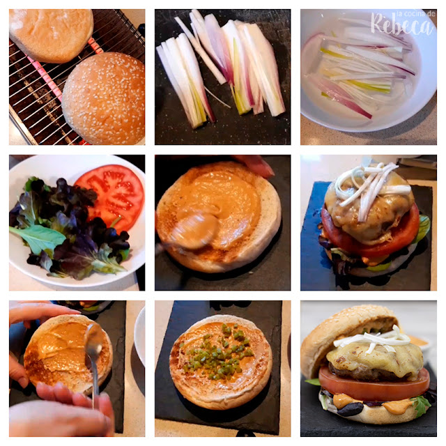Receta de hamburguesa de capricho ibérico: montaje de las hamburguesas