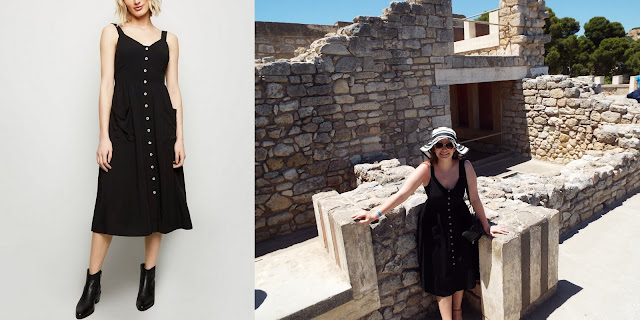 New Look Black  Midi Dress