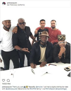 Peter Okoye signs with Empire
