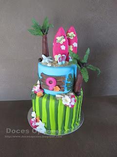 Bolo de aniversário havaiano
