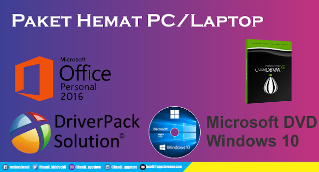 DVD Windows 10 Paket Hemat Microsoft Office