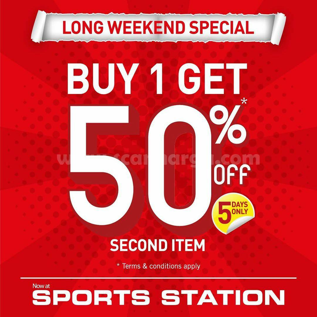 Sports Station Promo Buy 1 Get 50% Off [Long Weekend Special]