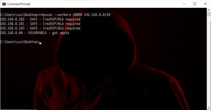 """RDPScan : A Quick Scanner For """"BlueKeep""""  Vulnerability"""