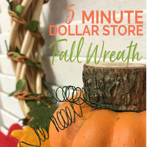 5 Minute DIY Fall Dollar Store Wreath