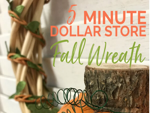 5 Minute DIY Fall Dollar Store Wreath