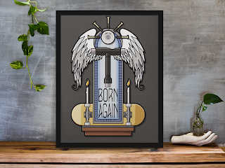 Born Again Skateboarder by TET. Available from Redbubble.