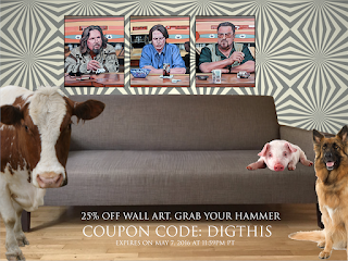 25% off wall art by troderickart coupon code DIGTHIS