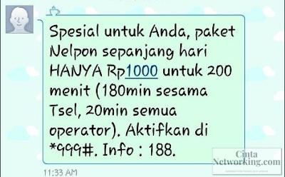 Cara Daftar Paket Nelpon Telkomsel Rp. 1000 Termurah - Cintanetworking.com