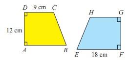 trapesium ABCD dan trapesium FEHG