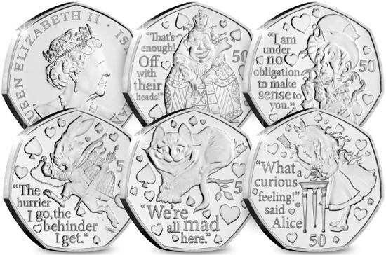 Isle of Man 50 pence 2021 - Alice's Adventures in Wonderland