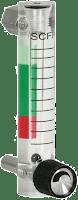 Plastic variable area flow meter