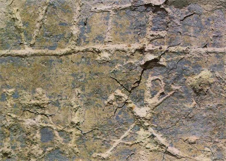 Grafitti com o chi-rho (ou XP), símbolo de Cristo