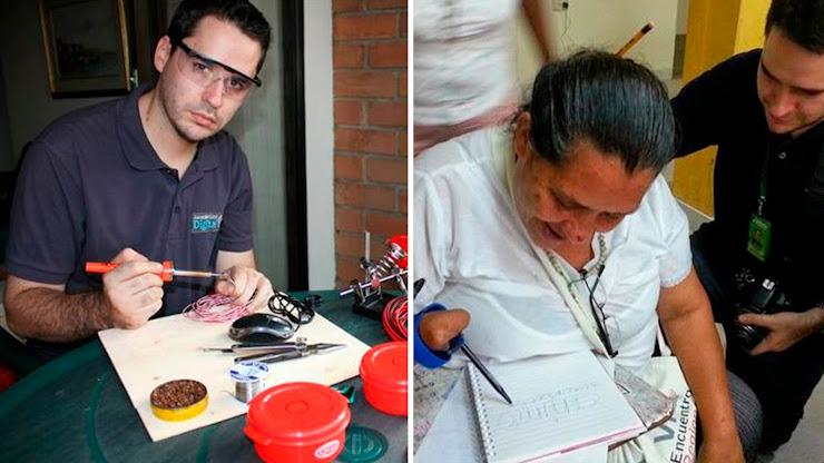 Este emprendedor crea herramientas para ayudar a personas con discapacidades físicas