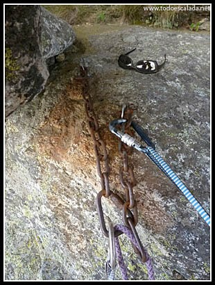 Instalación de rápel bajo la visera en Acellu