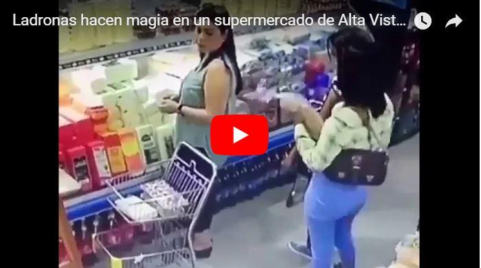 Ladronas hacen magia en un supermercado de Alta Vista, Puerto Ordaz