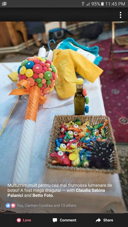 lumanari botez dulciuri