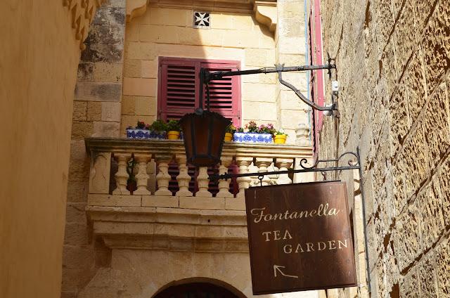 Mdina, middle age city, Malta, Fontanella tea garden