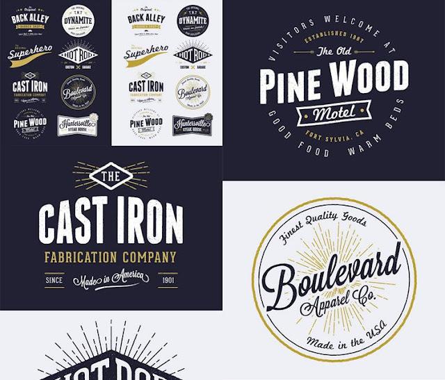 8 Free Customizable Vector Vintage Style Logo Designs-بلال ارت-مصدرابداعك