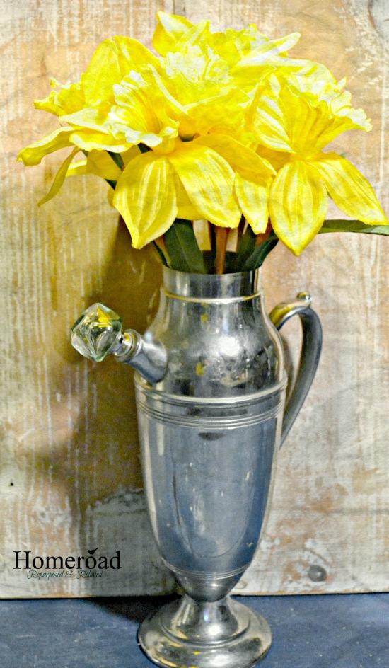 Cocktail Shaker Flower Vase