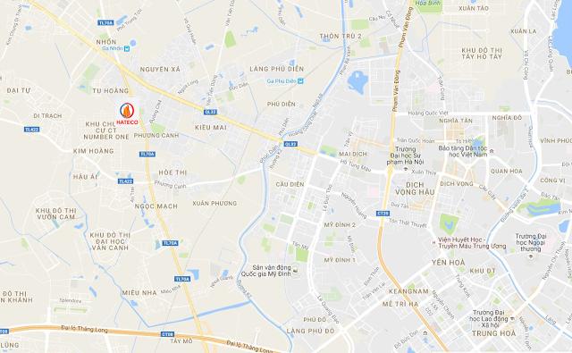 Liên kết vùng chung cư Hateco Xuân Phương