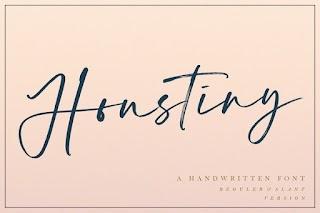 Houstiny Handwritten Font