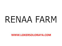 Lowongan Kerja Solo Staff Accounting di Renaa Farm