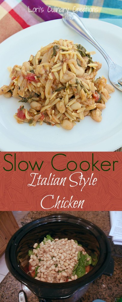 Most Popular of the Week | Slow Cooker Italian Style Chicken from Lori's Culinary Creations #recipe #SecretRecipeClub #chicken #crockpot
