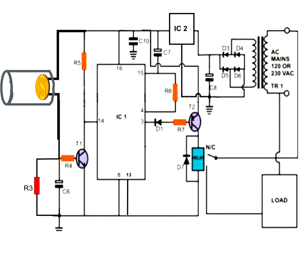 light alarm circuit with ldr