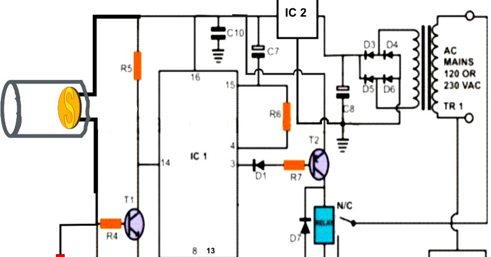 Laser Beam Light Activated Remote Control Circuit