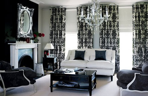 white and black curtains for living room black and white living room design ideas 27737