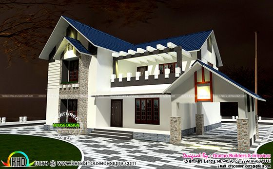2471 square feet 4 bedroom sloping roof