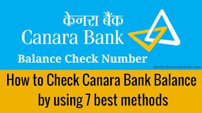 Check Canara Bank Balance