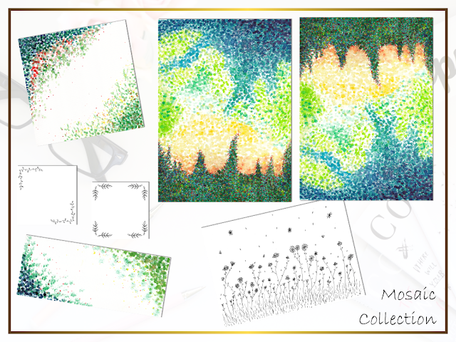 Watercolor Mosaic Collection