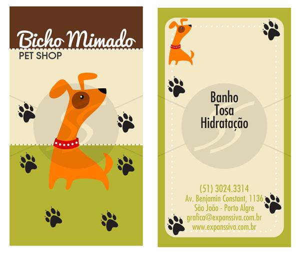 cartao de visita pet shop rj - Cartões de Visita Pet Shop