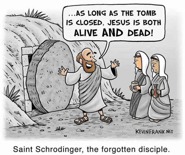 Funny Religious Cartoon - Saint Schrodinger, the Forgotten Disciple