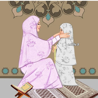 islamic muslim family couple image